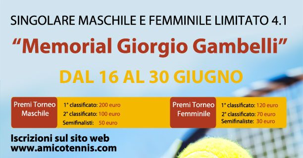 "Torneo 4a Categoria ""Memorial Giorgio Gambelli"""